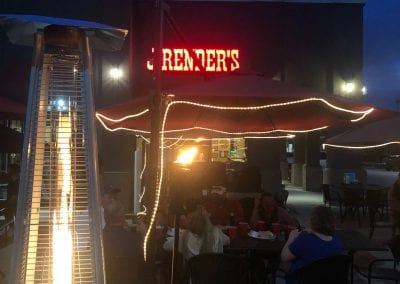 J. Render's Patio at night